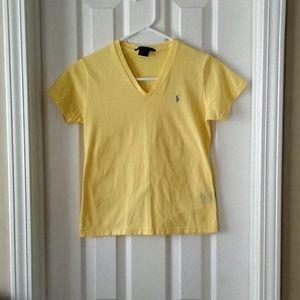 Ralph Lauren Sport Yellow V-Neck T-Shirt S